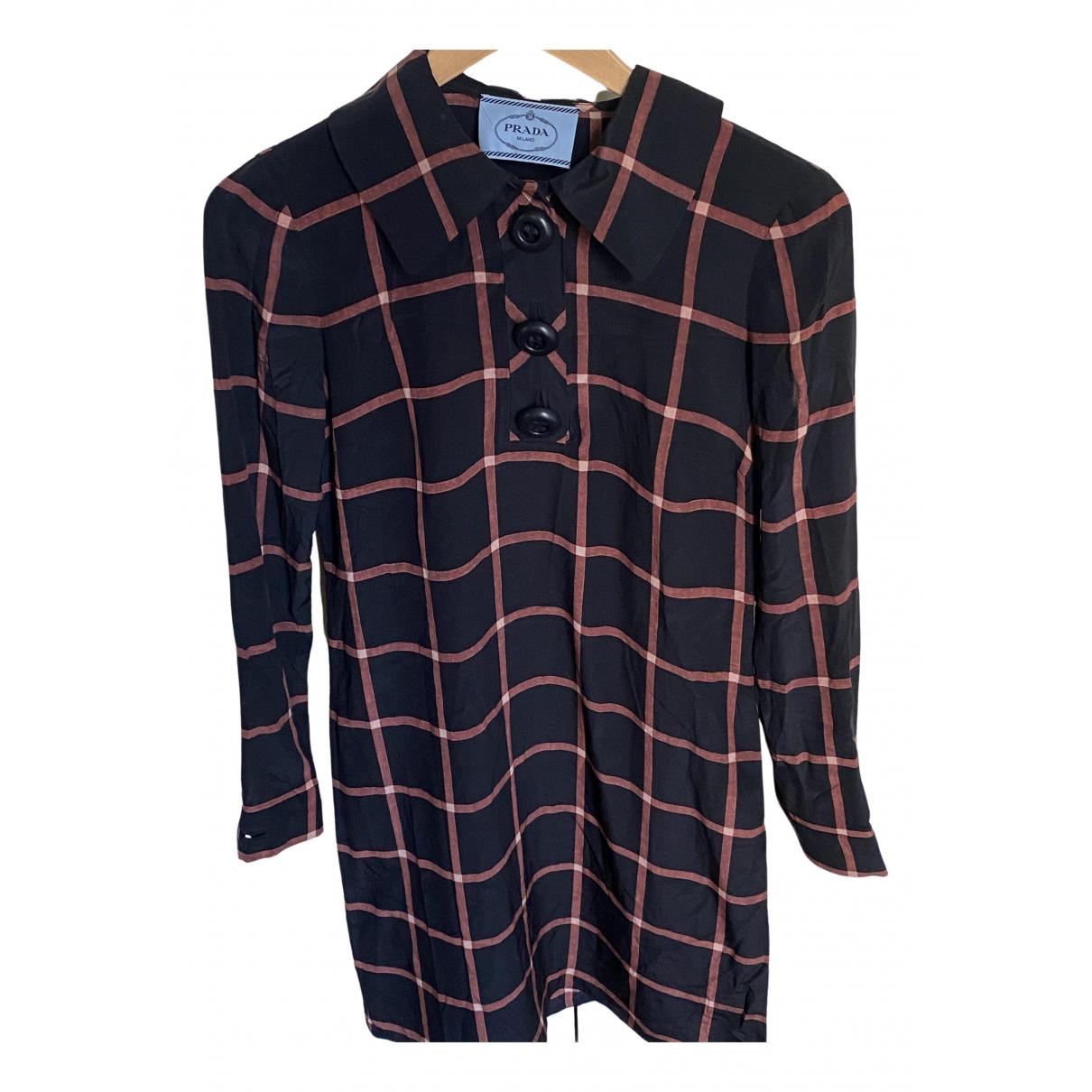 Prada \N Black Silk dress for Women 38 FR