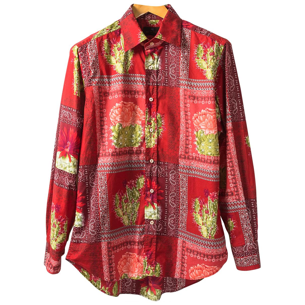 Etro - Chemises   pour homme en coton - rouge