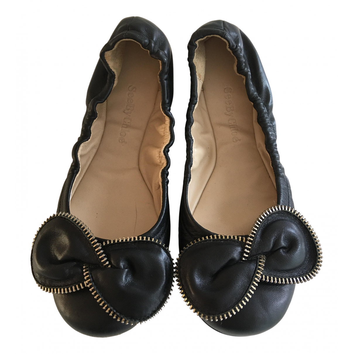 See By Chloé N Black Leather Ballet flats for Women 36 EU