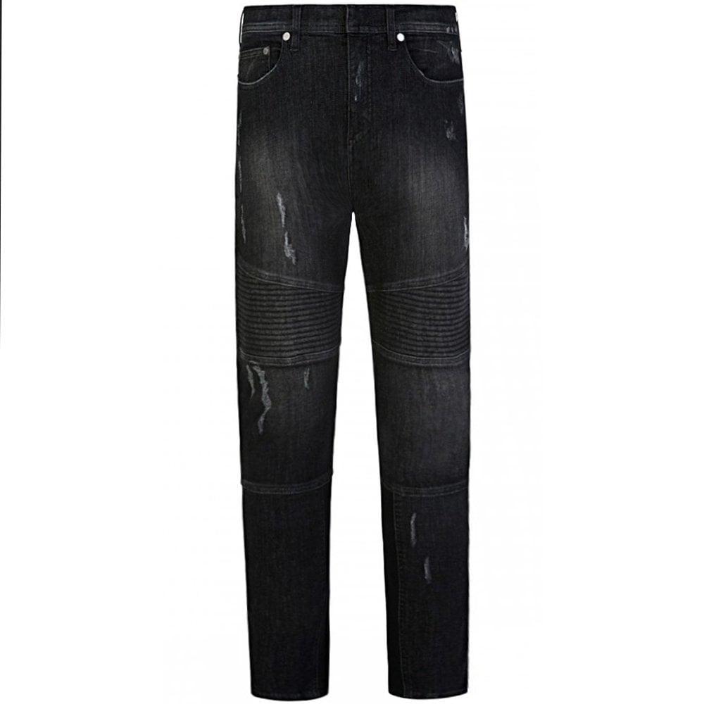 Neil Barrett Regular Rise Black Jeans Colour: BLACK, Size: 34 32
