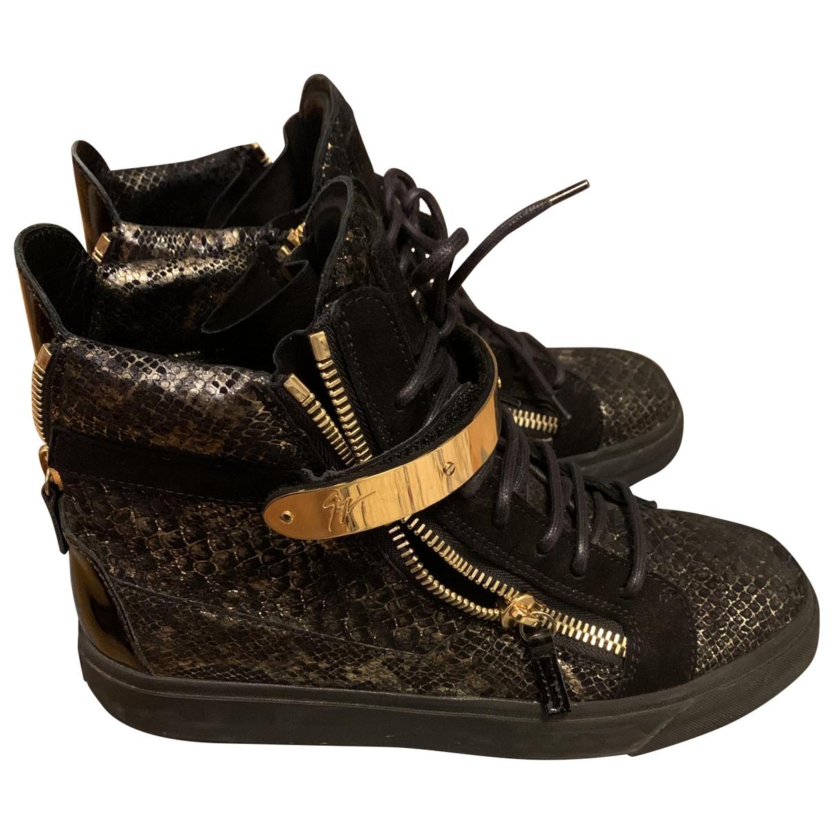 Giuseppe Zanotti - Baskets   pour homme en python - noir