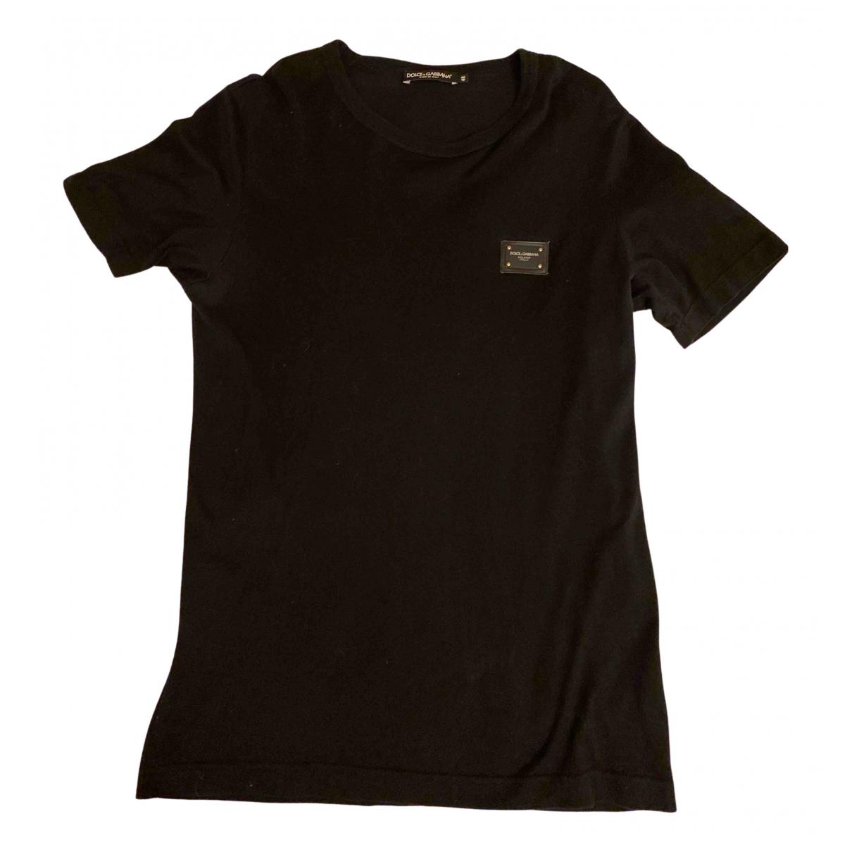 Dolce & Gabbana N Black Cotton T-shirts for Men M International