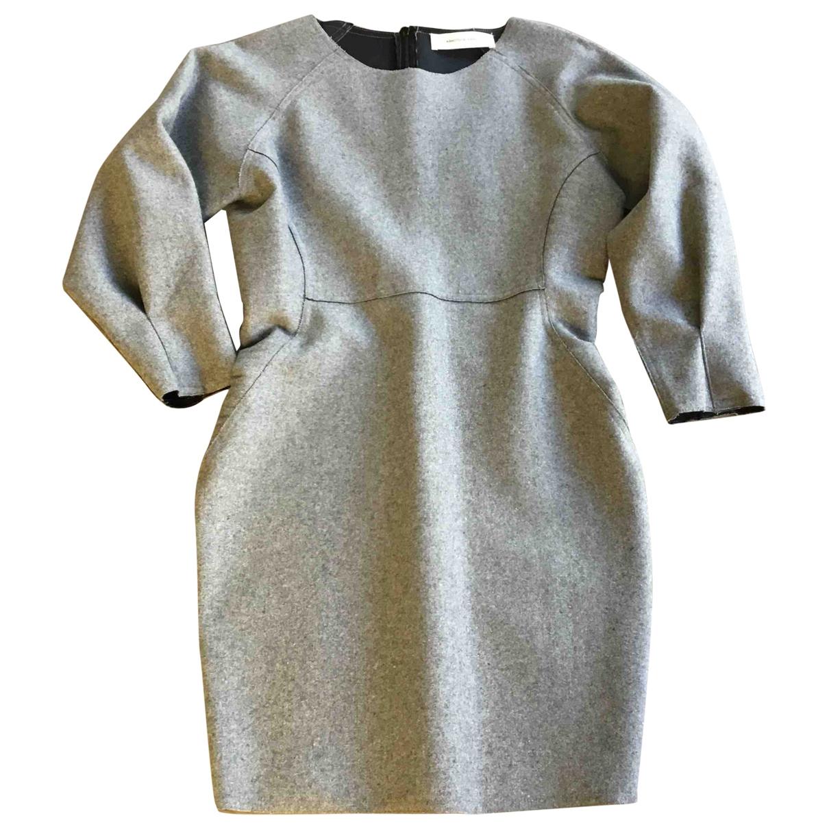 Ash \N Kleid in  Grau Wolle