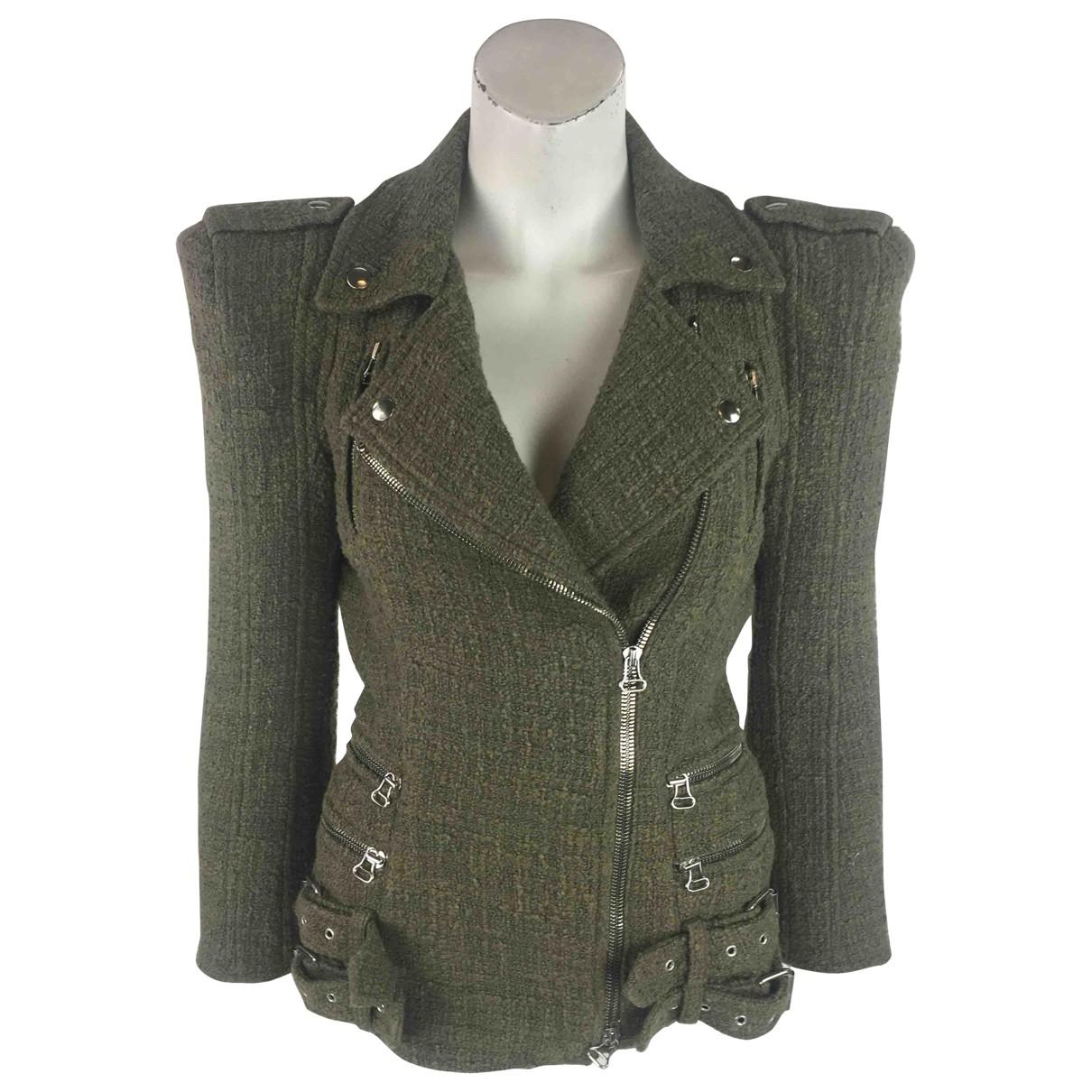 Balmain - Veste   pour femme en coton - kaki