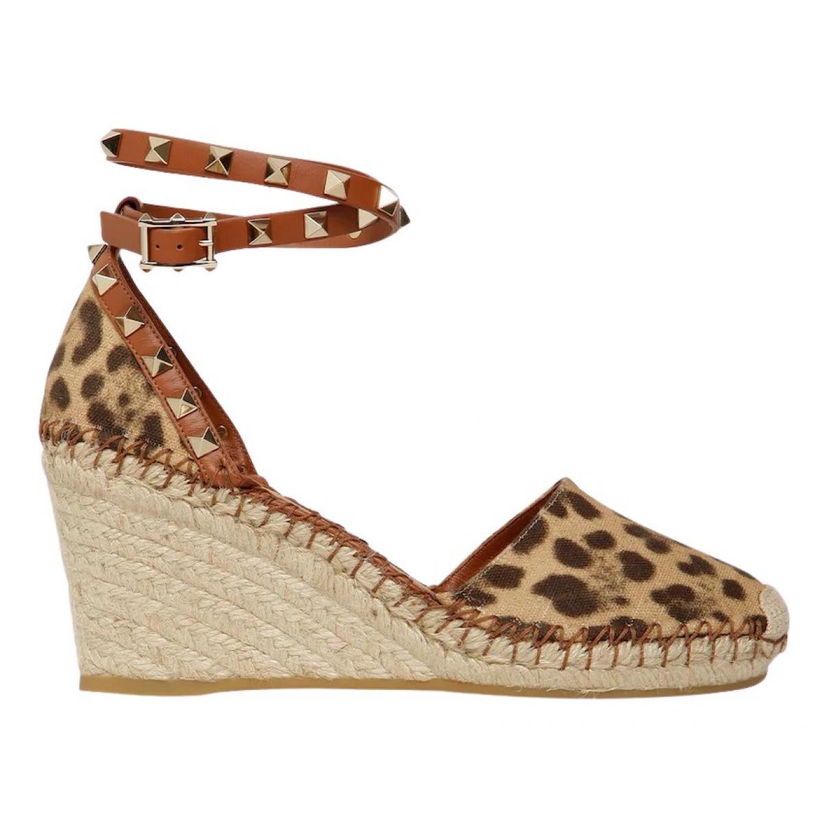 Valentino Garavani Rockstud Multicolour Leather Sandals for Women 35 EU