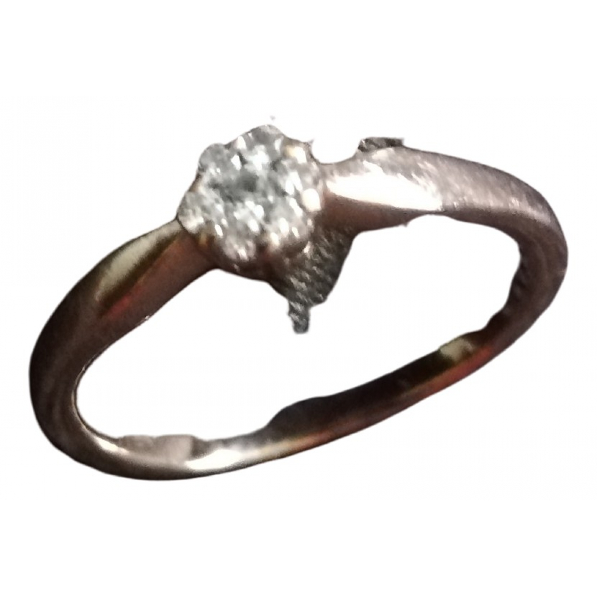 Non Signe / Unsigned Solitaire Ring in  Rosa Rosegold
