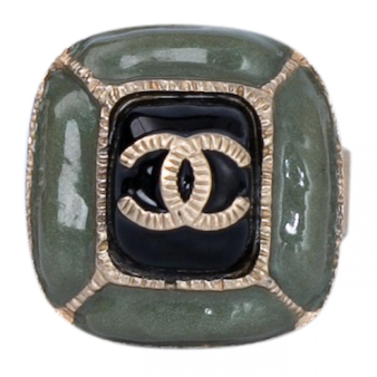 Chanel CC Ring in  Gruen Metall
