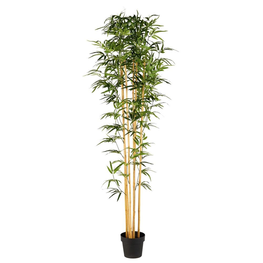 Kuenstlicher Gartenbambus im Topf