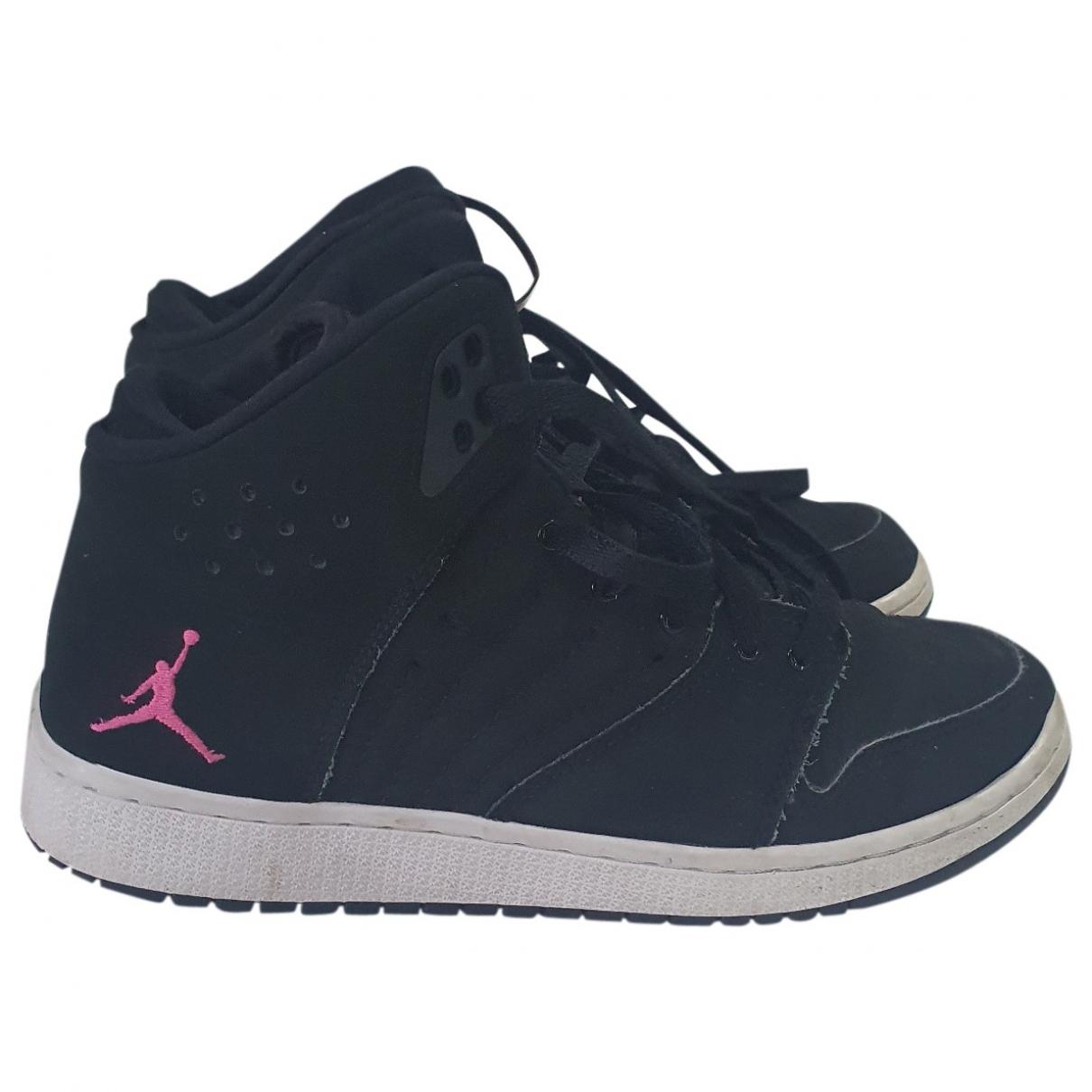 Jordan Air Jordan 1  Sneakers in  Schwarz Leinen