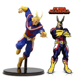 Warp Gadgets My Hero Academia Bundle - Banpresto All Might Statue Figure and FigPin - All Might - Collectible Enamel...
