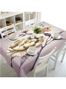 Vivid Polyester Modern Design Flowers Prints Home Decoration 3D Tablecloth