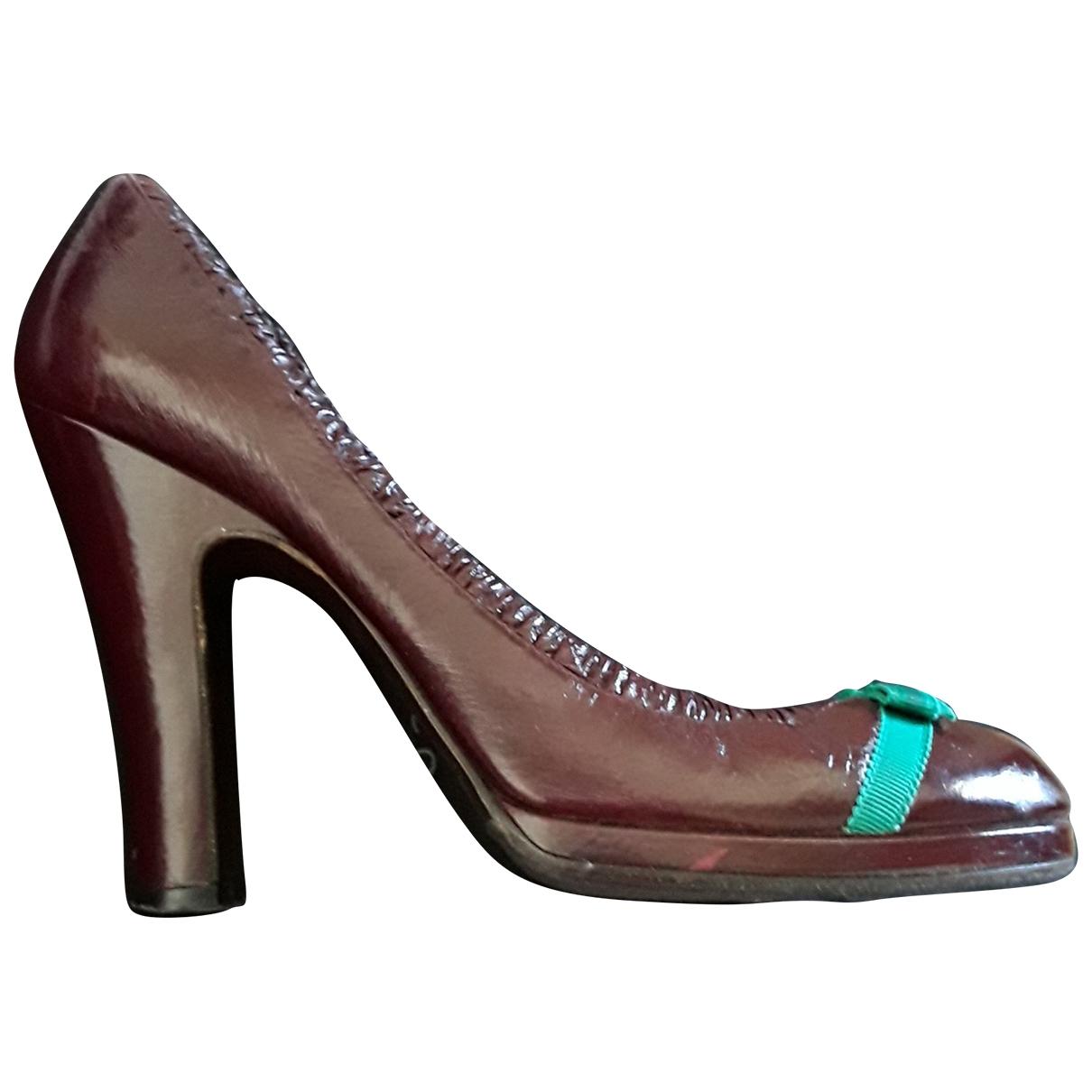 Marc Jacobs - Escarpins   pour femme en cuir - bordeaux
