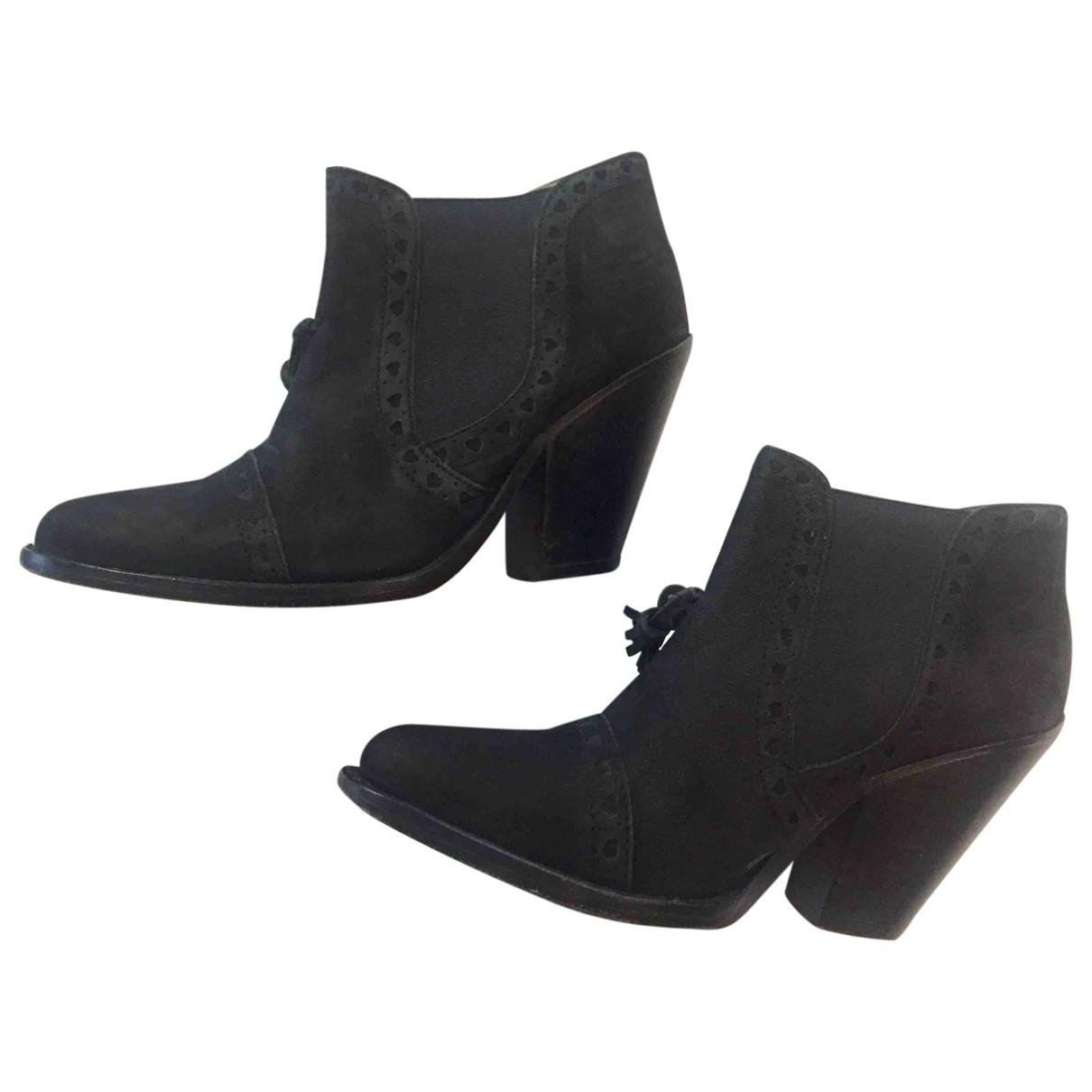 Paul & Joe - Boots   pour femme en cuir - noir