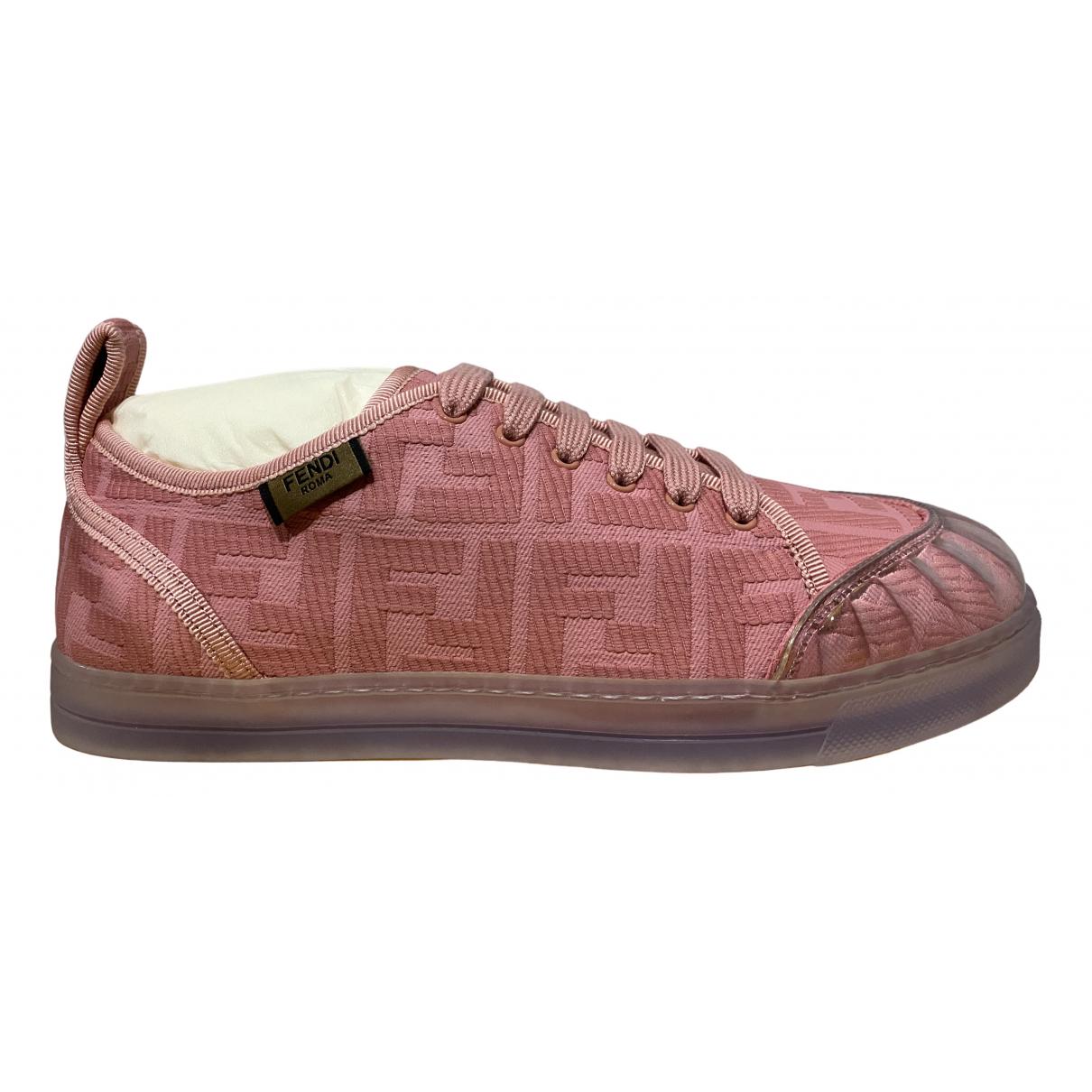 Fendi - Baskets   pour femme en toile - rose
