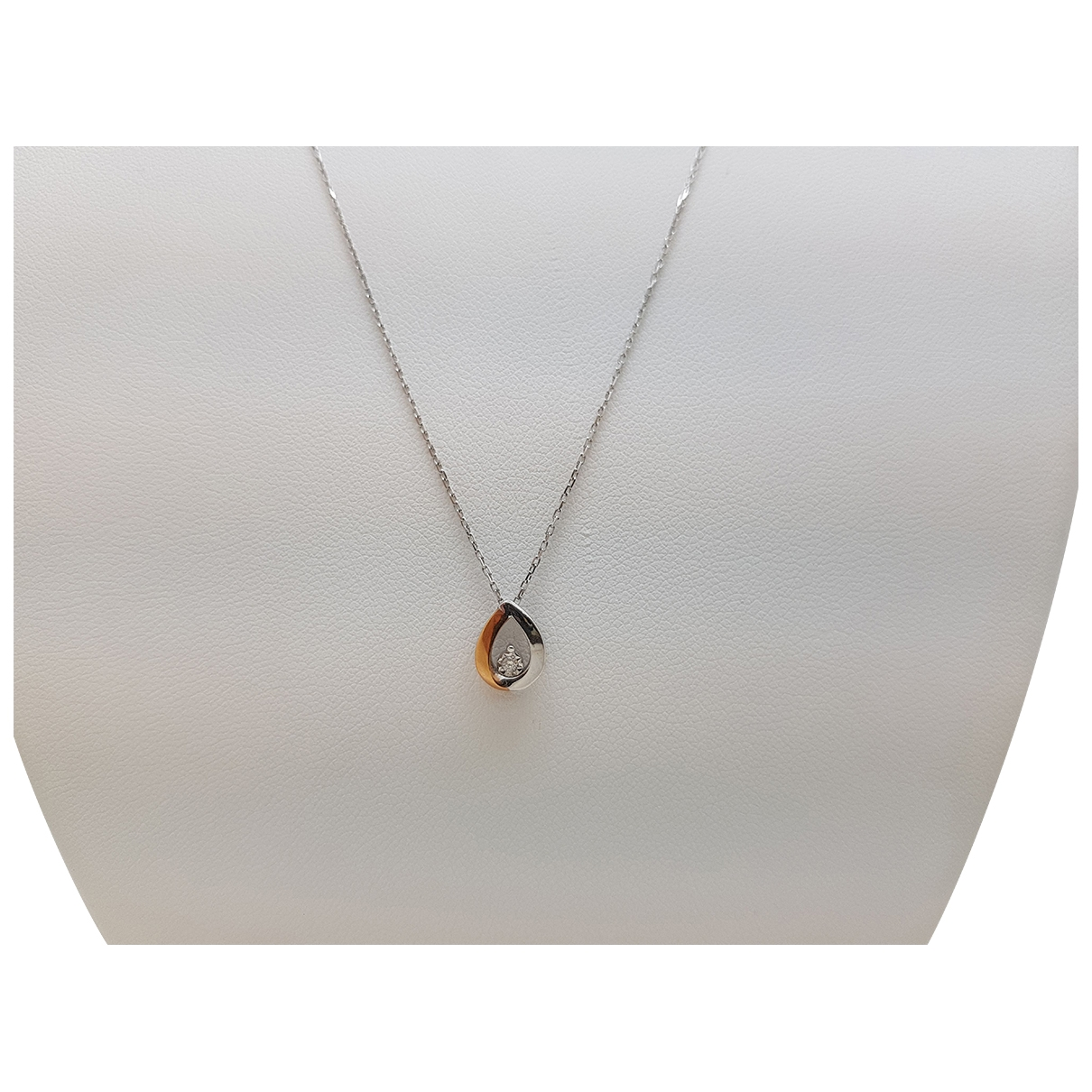 Non Signe / Unsigned \N Kette in  Weiss Weissgold