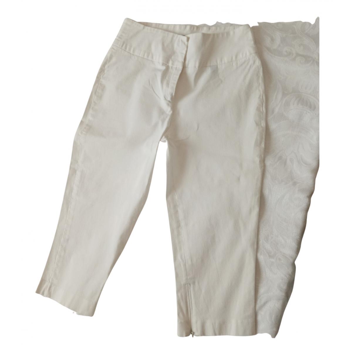 Pantalones en Algodon Blanco D&g