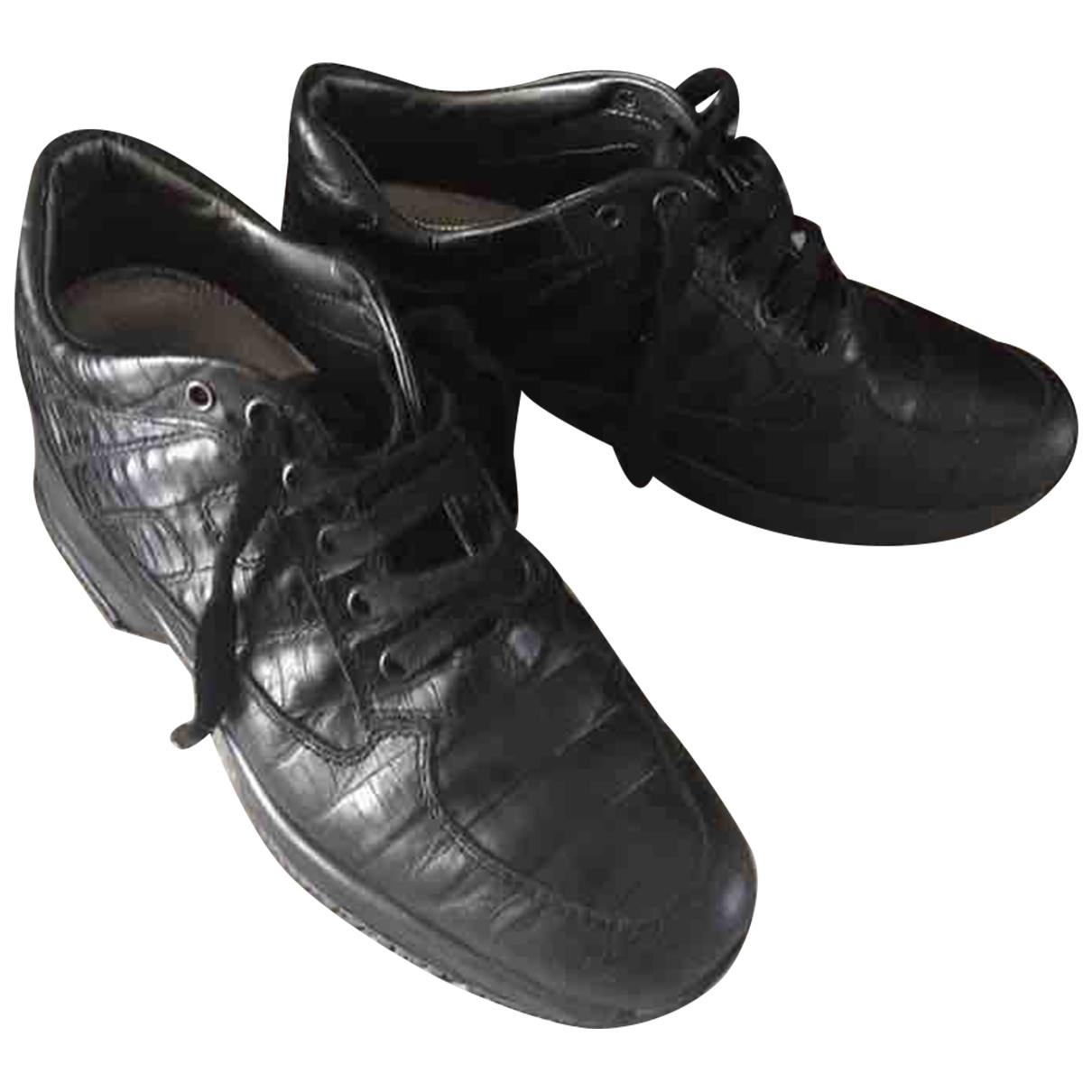 Hogan \N Black Leather Lace ups for Women 36.5 EU