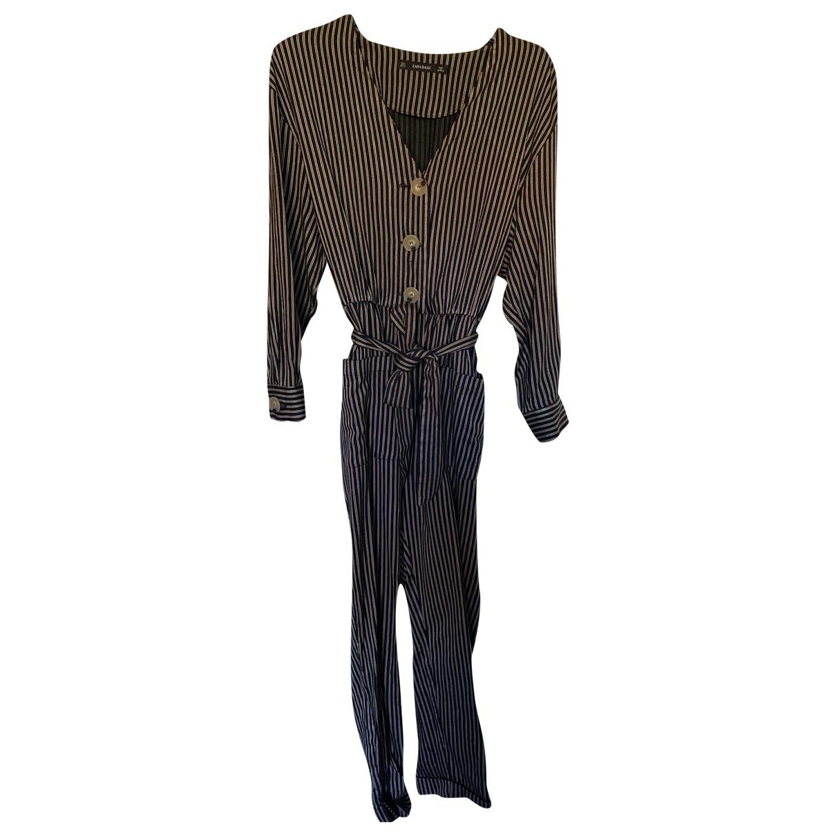 Zara - Combinaison   pour femme en coton - multicolore