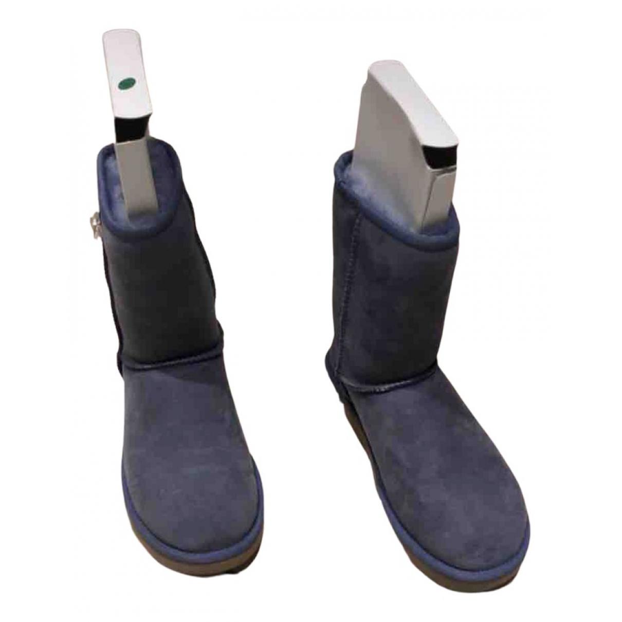 Ugg - Bottes   pour femme en fourrure - bleu