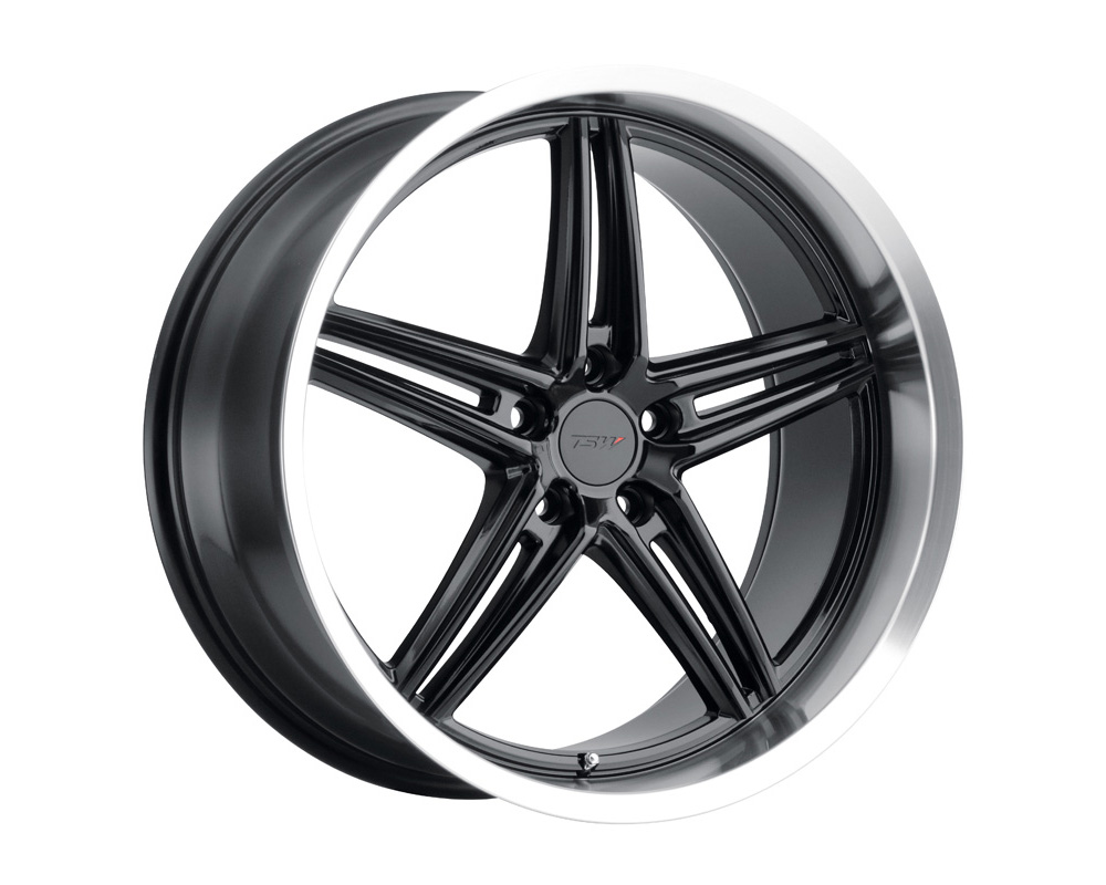 TSW Variante Wheel 18x9.5 5x112 39mm Gloss Black w/ Machined Lip