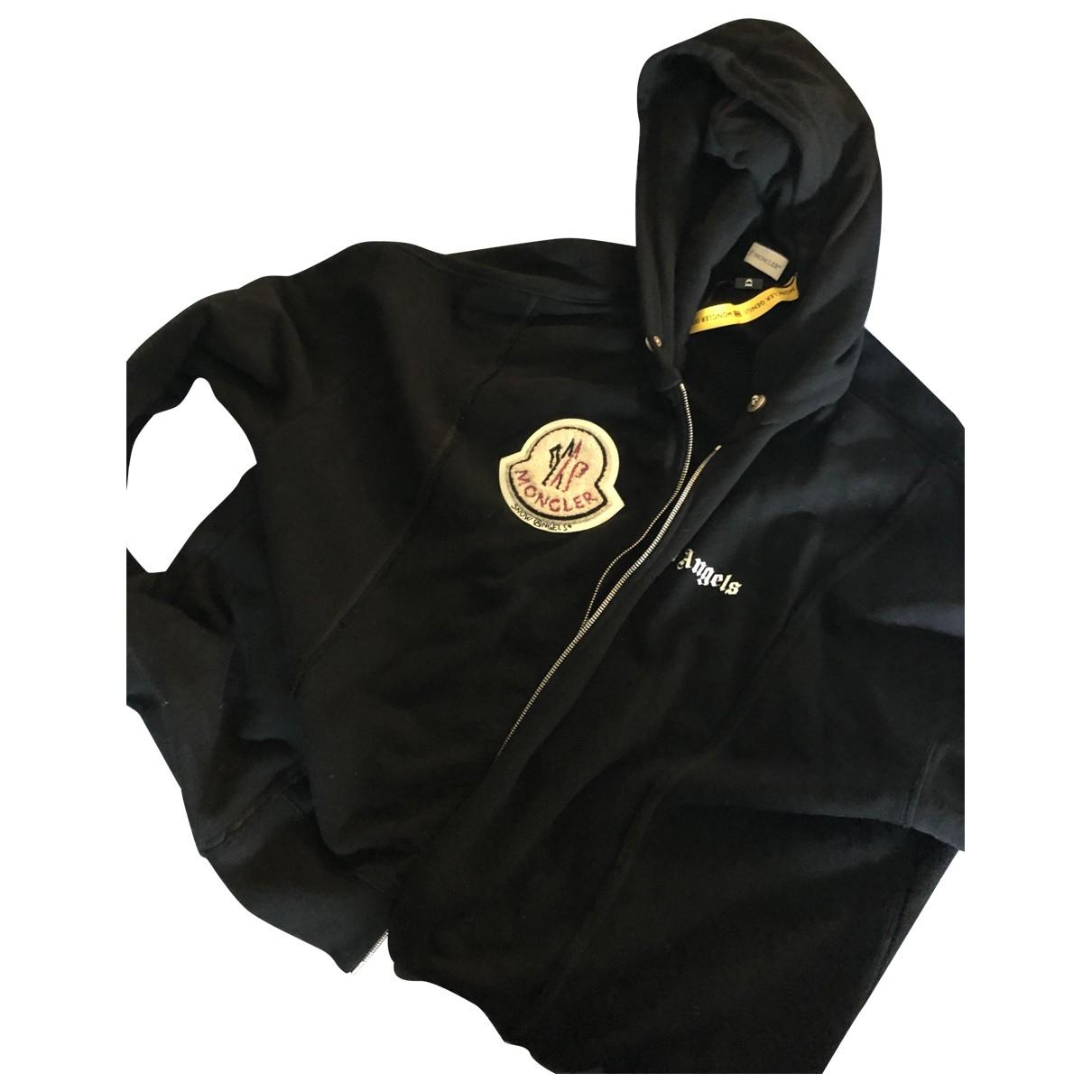 Moncler Genius Moncler n°8 Palm Angels Black Cotton Knitwear & Sweatshirts for Men M International