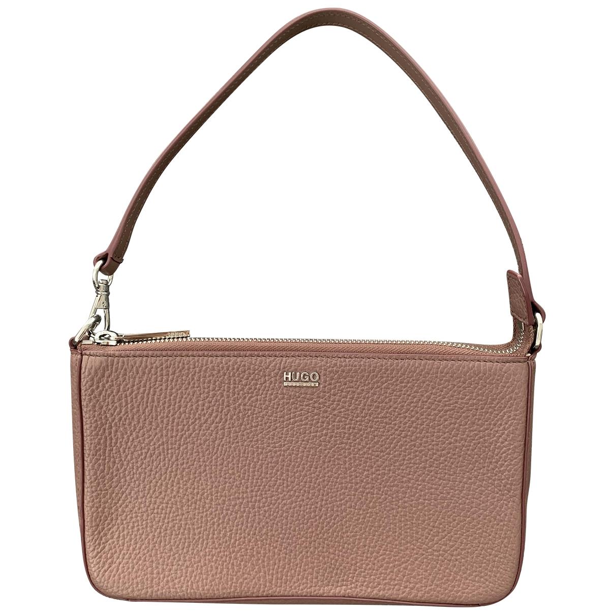 Hugo Boss \N Handtasche in  Rosa Leder