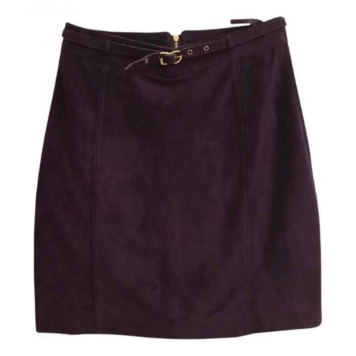 Dolce & Gabbana - Jupe   pour femme en suede - violet