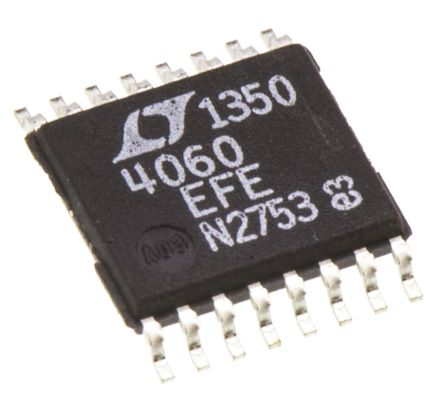 Analog Devices LTC4060EFE#PBF, NiCD, NiMH, Battery Charge Controller, 2.1A 16-Pin, TSSOP
