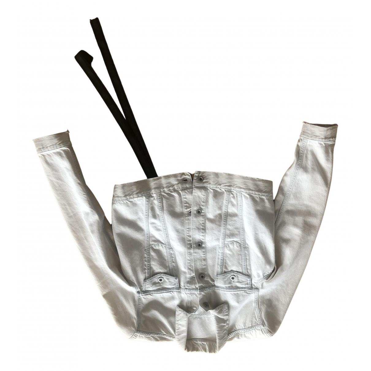 Unravel Project - Veste   pour femme en coton - blanc