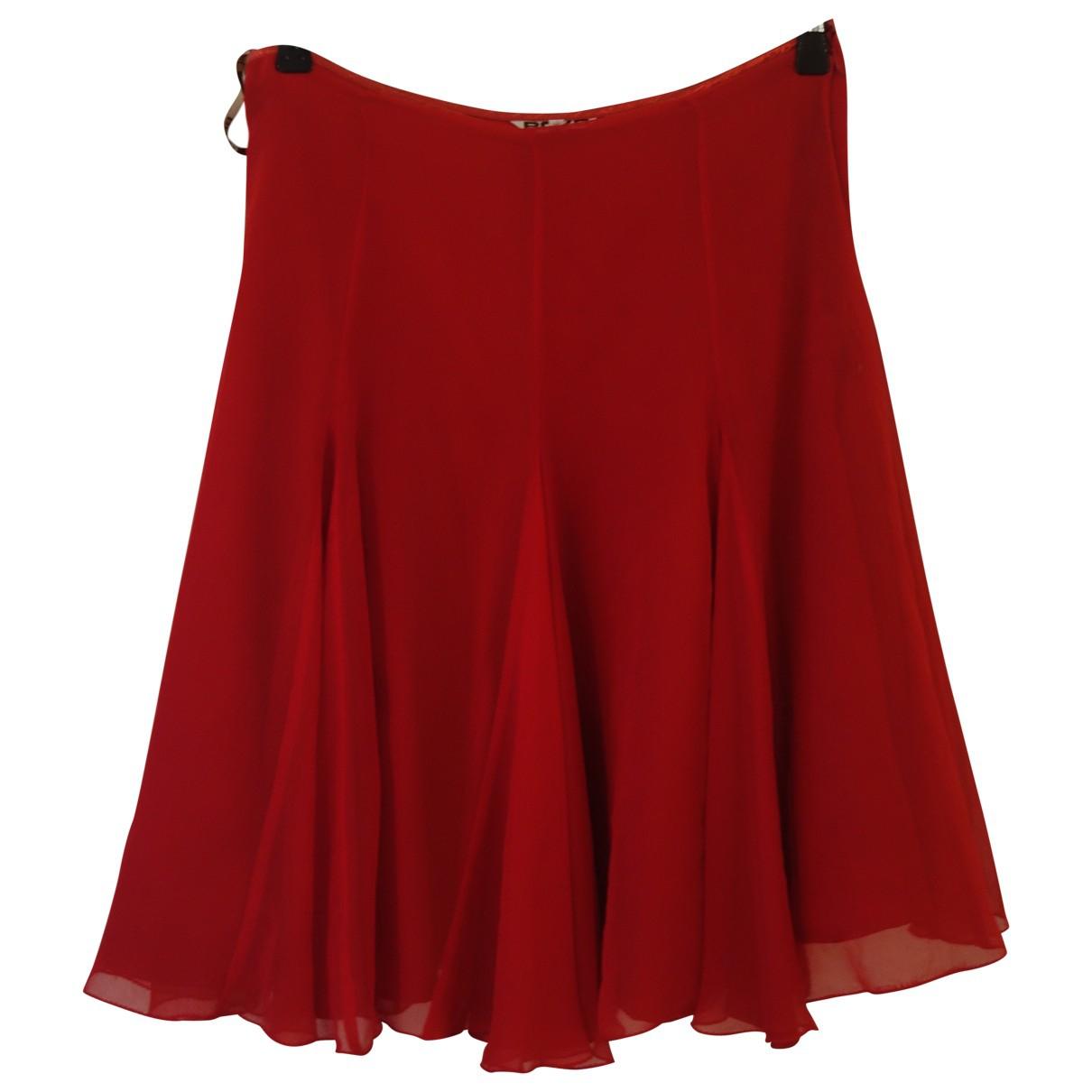 Boyd - Jupe   pour femme en soie - rouge