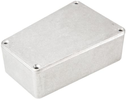 Hammond 1590, Unpainted Die Cast Aluminium Enclosure, IP54, Shielded, 112 x 78.96 x 39.2mm