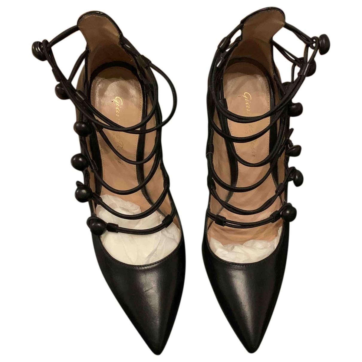 Gianvito Rossi - Escarpins   pour femme en cuir - noir