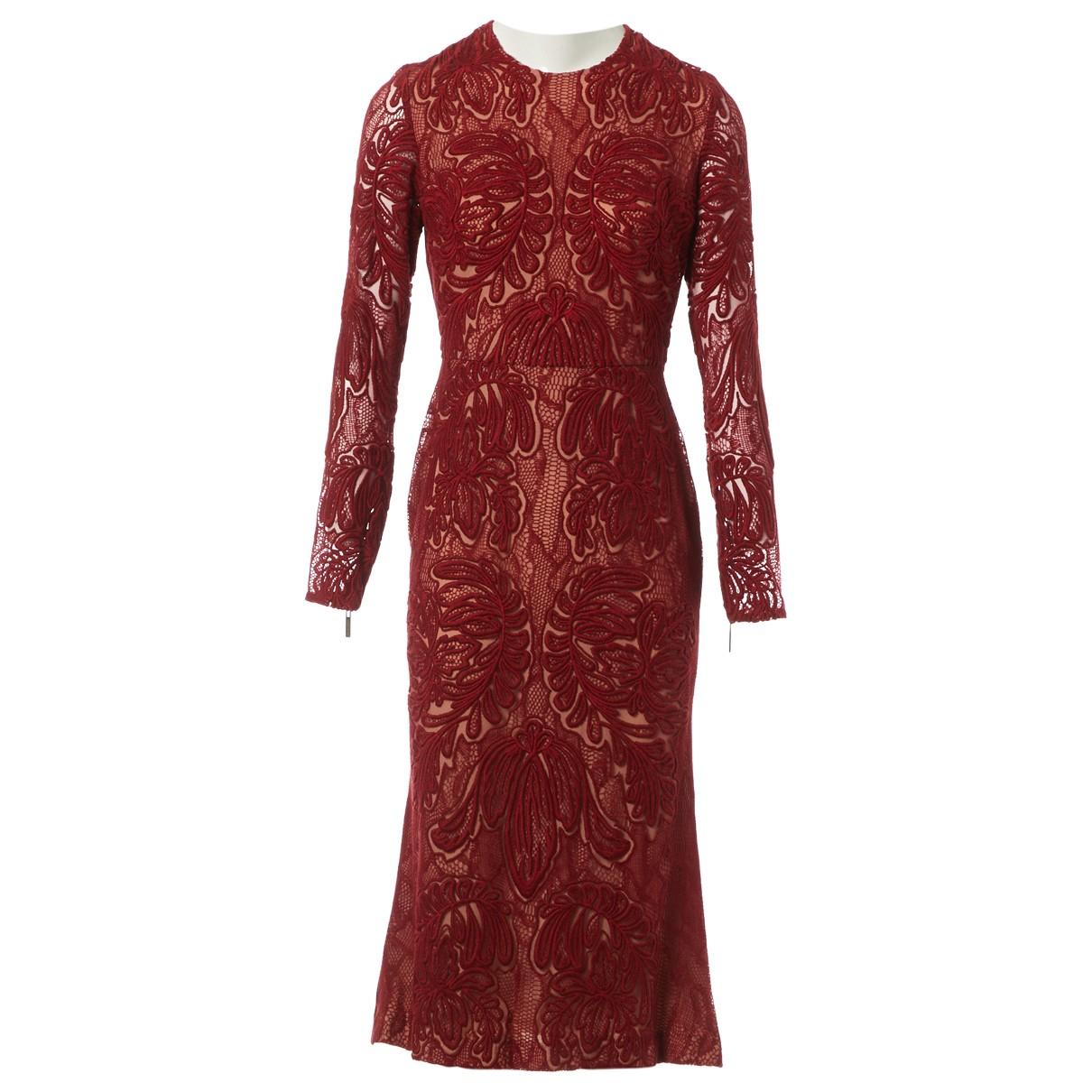 Elie Saab \N Kleid in  Rot Baumwolle