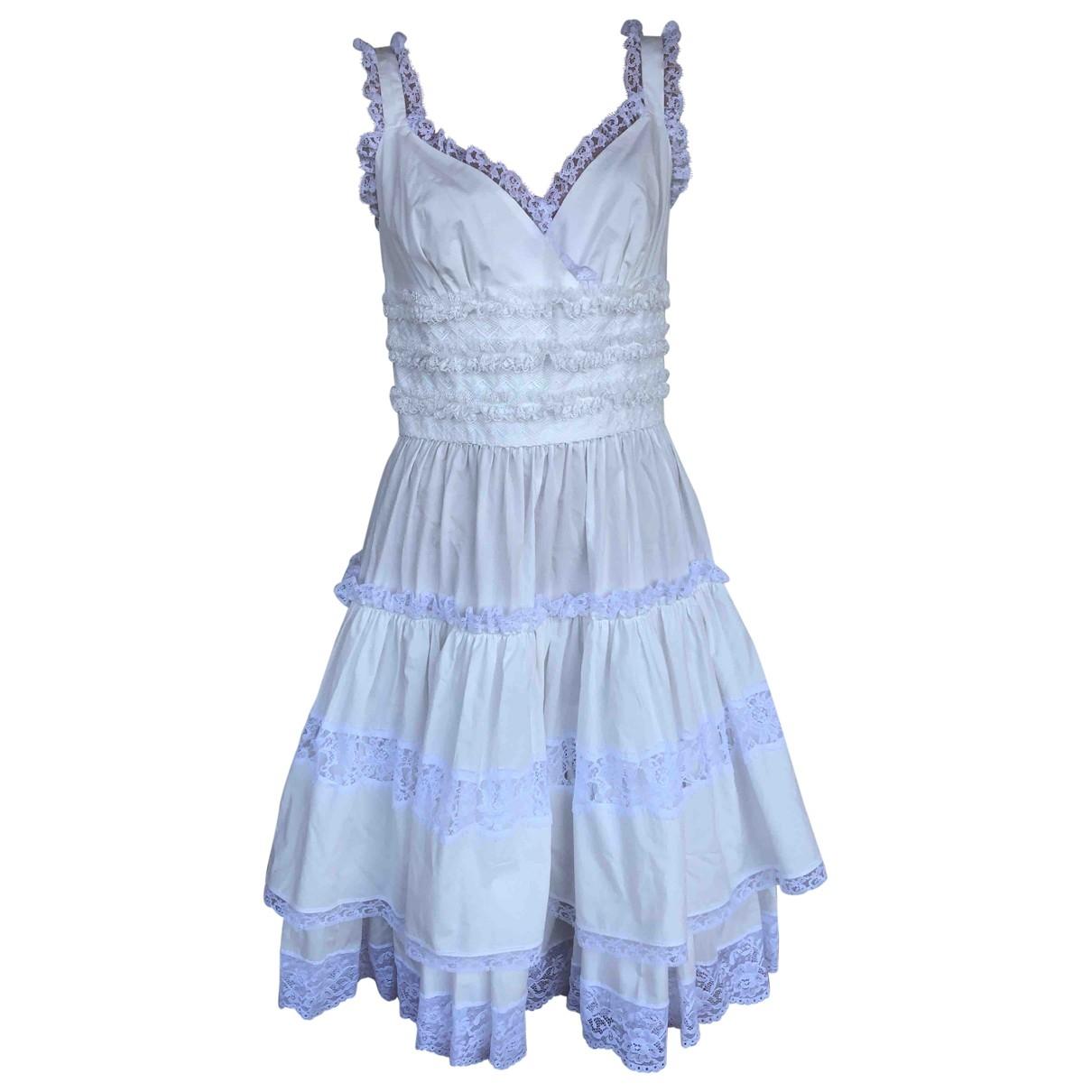 Dolce & Gabbana \N White Cotton dress for Women 38 IT