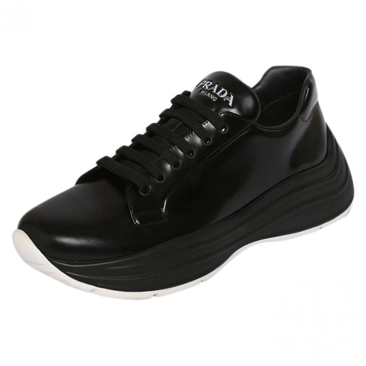 Prada \N Black Leather Trainers for Men 5 UK