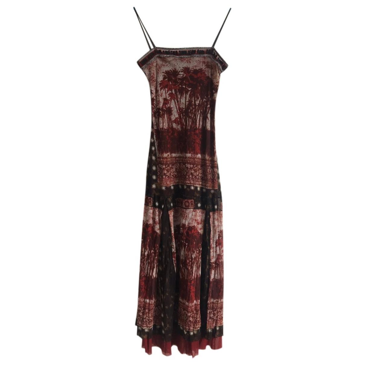 Jean Paul Gaultier \N Kleid in  Bordeauxrot Synthetik