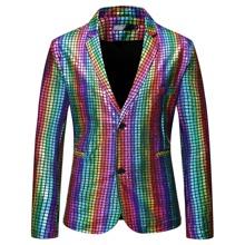 Blazer mit Karo Muster und Regenbogen Streifen