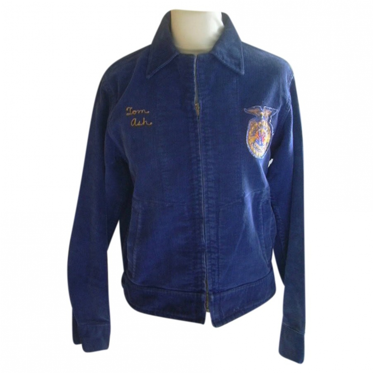 Non Signé / Unsigned \N Blue Cotton jacket  for Men S International