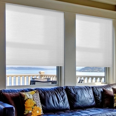 Home Expressions Cut-to-Width Cordless Light-Filtering Cellular Shade, One Size , Gray