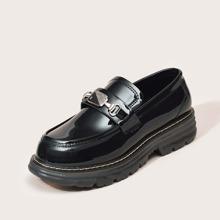 Loafers mit Strass Detail
