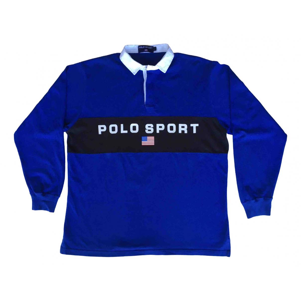 Polo Ralph Lauren - Polos Polo Rugby manches longues pour homme en coton - bleu