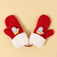 Weihnachten Handschuhe mit Schneeflocken Dekor