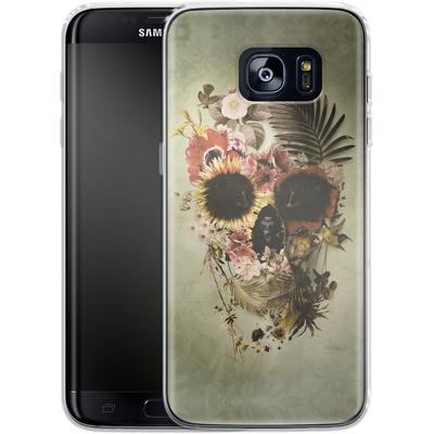 Samsung Galaxy S7 Edge Silikon Handyhuelle - Garden Skull Light von Ali Gulec