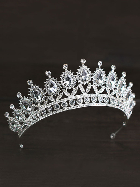 Milanoo Headpieces Wedding Tiara Metal Bridal Hair Accessories