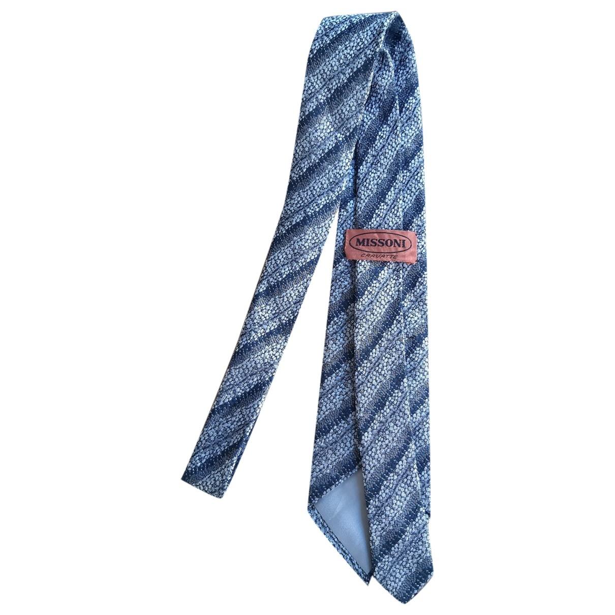 Missoni \N Krawatten in  Grau Seide