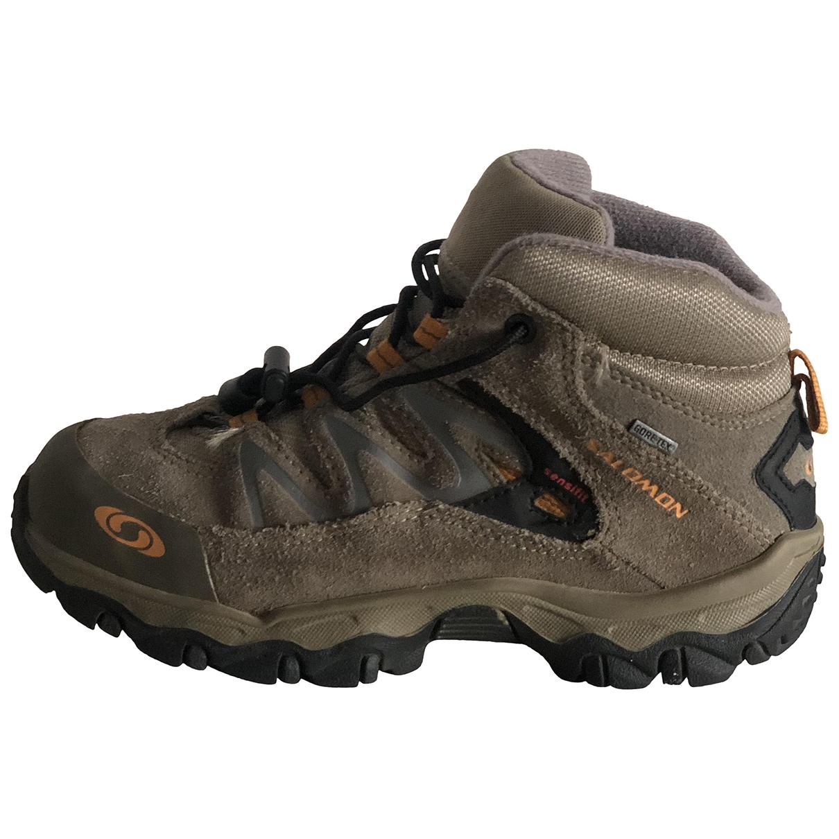 Salomon \N Sneakers in  Beige Polyester