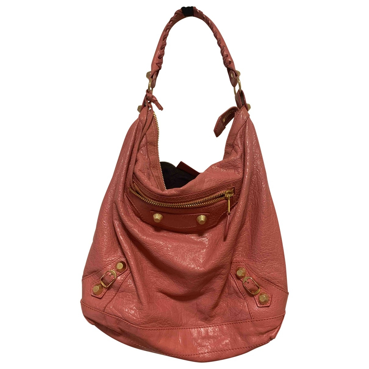 Balenciaga Day  Pink Leather handbag for Women \N