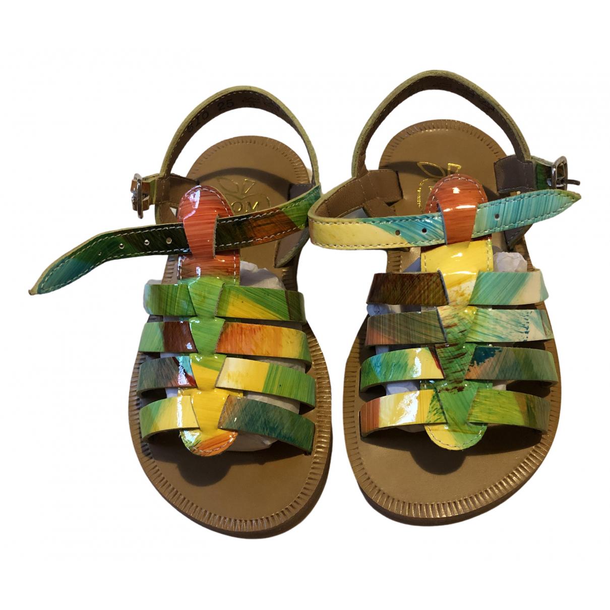 Pom Dapi - Sandales   pour enfant en cuir - multicolore