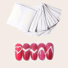 24 piezas pegatina de uña geometrica