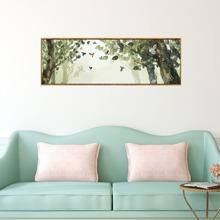 Pintura de pared con patron de paisaje sin marco